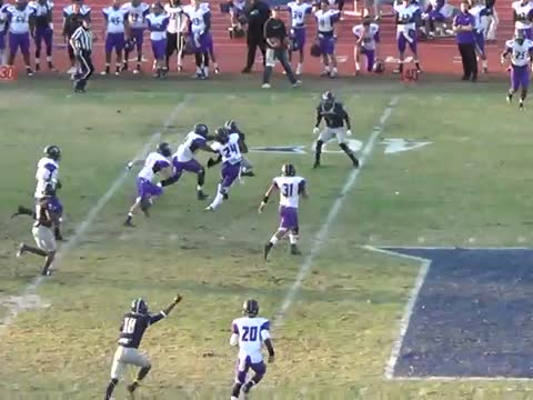 Football Player Flips Over Defender!