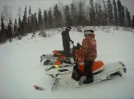 Brutal Snowmobile Crash! - Video