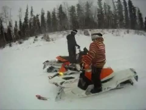 Brutal Snowmobile Crash!