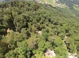 Insane Mountainside Wingsuit Jump - Video