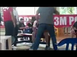Freak accident at Bench Press - Video