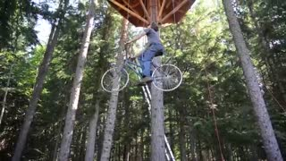 Bicycle Powered Tree House Elevator - Video