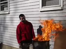 Deep Frying a Turkey Gone Wrong - Video