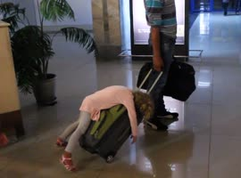 Adorable Girl Had a Rough Flight - Video
