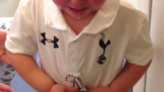 Kid Not Happy With Jersey Christmas Present! - Video
