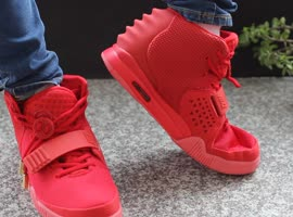 Super Air Yeezy 2 Red October Sneakers online shopping - Video