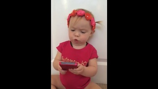 Baby Erika sings 'Love Is An Open Door' - Video