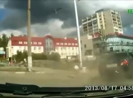 Incredibly Close Call For Pedestrians - Video