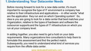 How to select your data center - Video