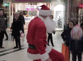 Santa Performs Incredible Soccer Skills - Video