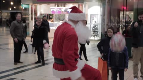 Santa Performs Incredible Soccer Skills