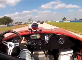 Watkins Glen 2012 Lorne Leibel #8 AC Cobra - Qualifying Race - June SVRA Event - Video