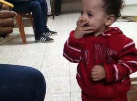 Cute Baby With Shocked Reaction! - Video