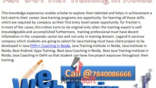 DOT NET Training in Noida, HTML5 Training in Noida, PHP++ Coaching in Noida - Video