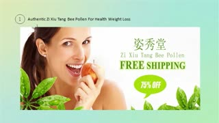 Health Diet Zi Xiu Tang Bee Pollen Diet Capsules - Video