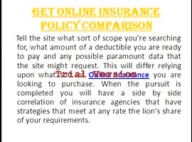 Get Online Insurance Policy Comparison