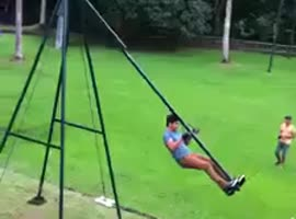 Massive 360 Degree Swing!