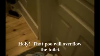 Toddler speaks bathroom. - Video