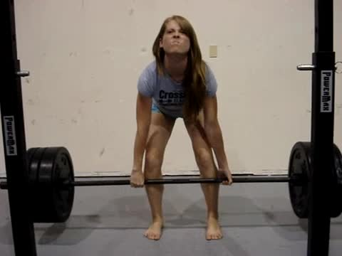 Chick weightlifter