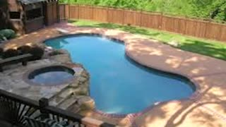 Pool Deck Resurfacing Kansas City http://www.bigreddecorativeconcrete.com - Video