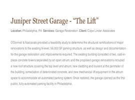 Garage Restoration & Parking Consultation Services in Philadelphia, Union County & Lehigh Valley