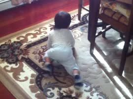 Cute baby & cute dog chasing each other - you ll love this