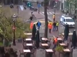 Cyclist Almost Killed By Falling Tree - Video