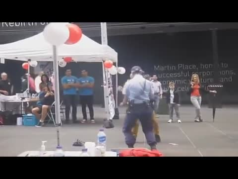 Dancing Police officer