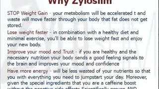 Zyloslim Weight Loss Formula - Video