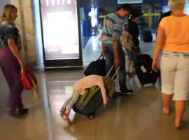 The Little Girl Obviously Had a Heavy Flight