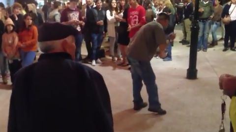 Elderly man shows off smooth dance moves