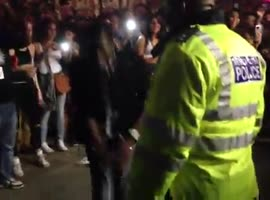 Police Dance on Streets at Notting Hill Carnival
