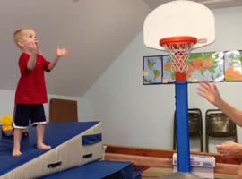 Little Boy is Gonna Dunk It - Video