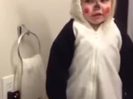 Adorable Girl Shows Shocked Panda Face! - Video