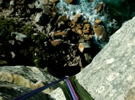 Daring Jumps From 60-Metre Cliff! - Video