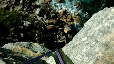 Daring Jumps From 60-Metre Cliff!