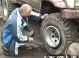 Amazingly blowing tires - Video