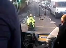 Man on Scooter Holds Up Tourist Bus! - Video