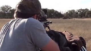 50BMG Machine Gun vs Cinder Blocks - Video