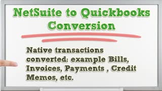 Netsuite to quickbooks conversion - Video