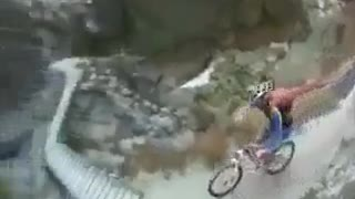 Very risky cycling. - Video