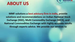 Stock Tips | Commodity Tips | Options Call & Put | Agri Tips: MMF Solutions - Video