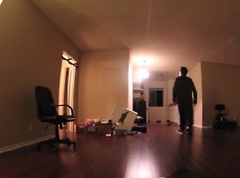 Realistic Paranormal Activity Prank Gives Guy Panic Attack - Video