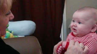 Baby Girl Tries Singing With Grandma!