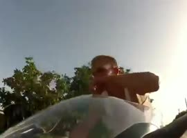 Riding 150mph with no helmet!