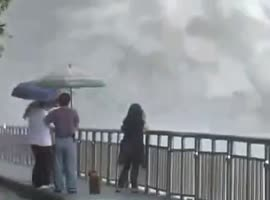 Incredible Footage of Dam Releasing Flood Waters - Video