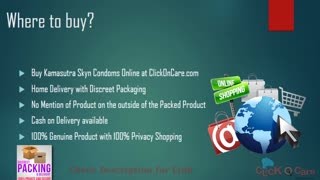 Buy Kamasutra Skyn Non Latex Condoms Online in India at 20% discount - Video