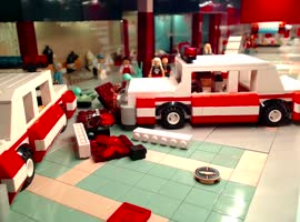 LEGO Re-Enactment of 'Blue Brothers' Mall Chase! - Video