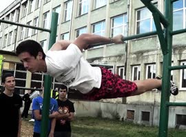 Extreme Power Workout - One arm back lever, Iron Cross, One arm front lever, etc..