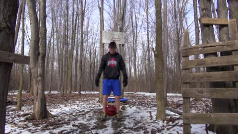 Back Handspring Basketball Trick Shot